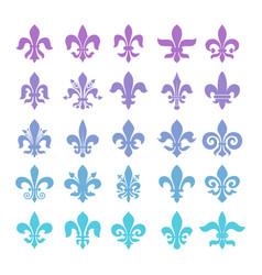 Fleur de lis symbols set vector