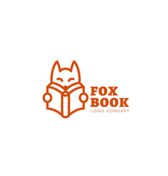 Fox book logo vector