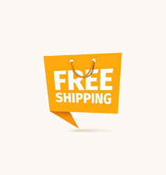 Free shipping food or goods isolated vector