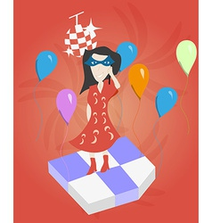 Girl at a party vector