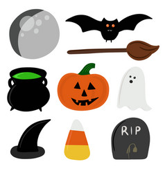 halloween graphic elements vector image