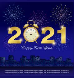 Happy new year 2021 banner vector