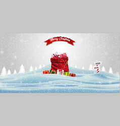 Happy new year and merry christmas christmas vector