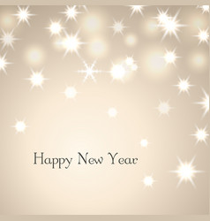 happy new year decoration background with text vector image