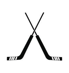 Hockey icon simple style vector image