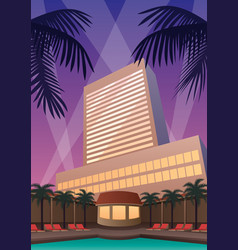 Hotel casino resort vector