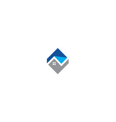 house building logo icon vector image
