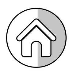 house shape icon vector image
