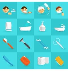 Hygiene Icons Flat vector