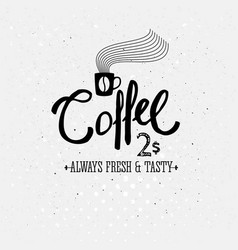 image of stylish black and white coffee logo vector image