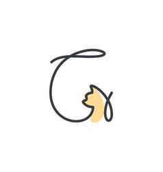 Initial mono-line c cat vector