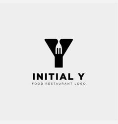 Initial y food equipment simple logo template vector