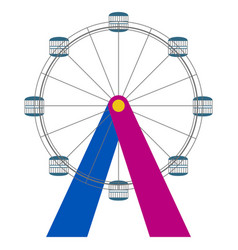 isolated ferris wheel icon vector image