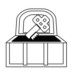 isolated treasure chest design vector image