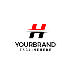 letter h logo graphic elegant and unique sliced vector image