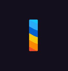logo letter i colorful blue red orange vector image
