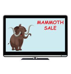 mammoth sale tv advert vector image