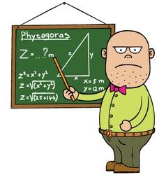 Maths teacher vector image