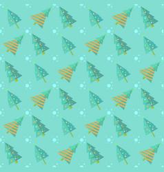 mint blue seamless christmas tree pattern vector image