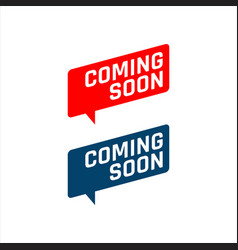 new stylish coming soon sign an icon for website vector image