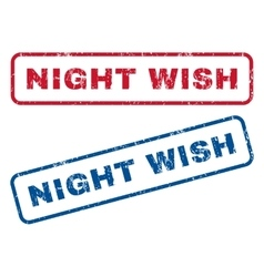 Night Wish Rubber Stamps vector image