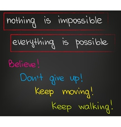 Nothing is impossible vector