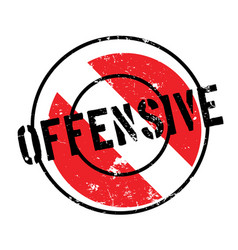 Offensive rubber stamp vector