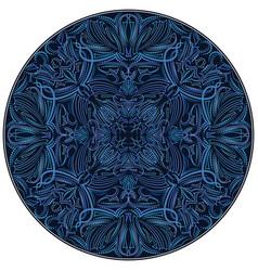 pinstriping round design vector image