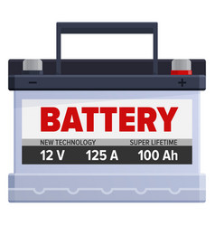 Powerful portable battery isolated vector