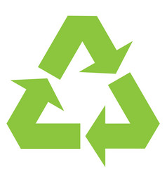 recycle sign icon black vector image
