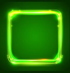 round light frame shining square banner vector image