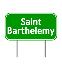 Saint-Barthelemy road sign vector