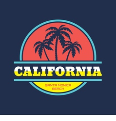 Santa monica - beach vacation - badge vector
