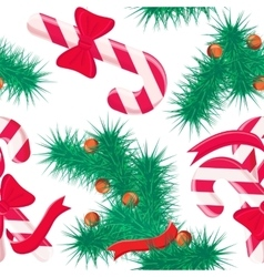 Seamless pattern with christmas sweets and tree vector