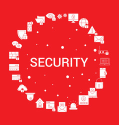 Security icon set infographic template vector
