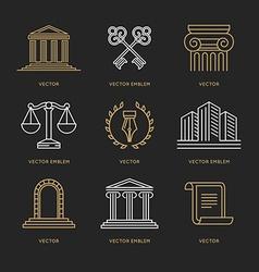 set logo design templates vector image