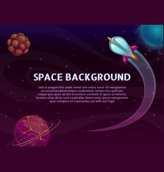 Space background with place for your text vector
