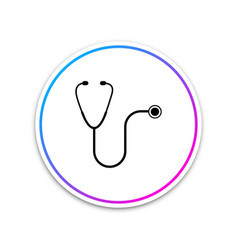 stethoscope medical instrument icon isolated vector image