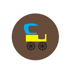 Stylish icon in color circle retro carriage vector