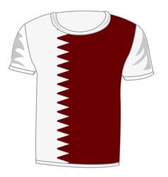 T-shirt flag qatar vector