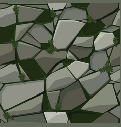 Texture for paving stone on grass vector
