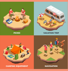 vacation trips design concept vector image