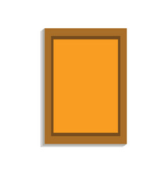wall picture icon cartoon style vector image