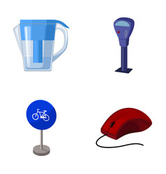 Water filter parking machine and other web icon vector