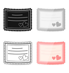 Wedding card icon of for web vector