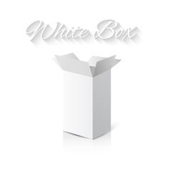 White gift carton box vector image