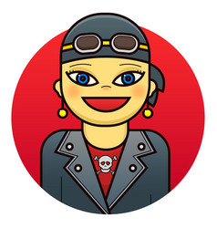 woman biker vector image