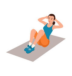 woman doing sit up vector image