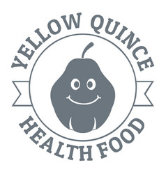 Yellow quince logo vintage style vector