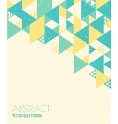 Abstract geometric background in blue and yelow vector